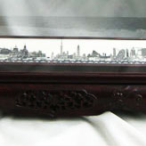 Today Shanghai Carved with Red Sandalwood