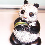 Panda Casket & Crystal Scent Bottle